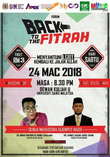 "Mahasiswa Muslim Malaysia Serukan ""Kembali ke Fitrah"", Kaum Sodom Modern Meradang"