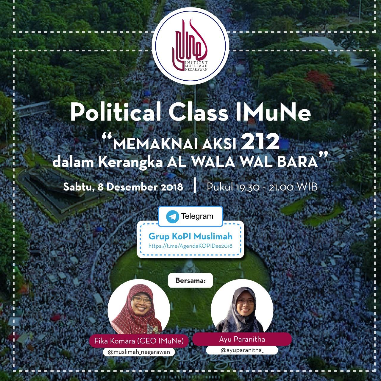 Political Class Memaknai Aksi 212