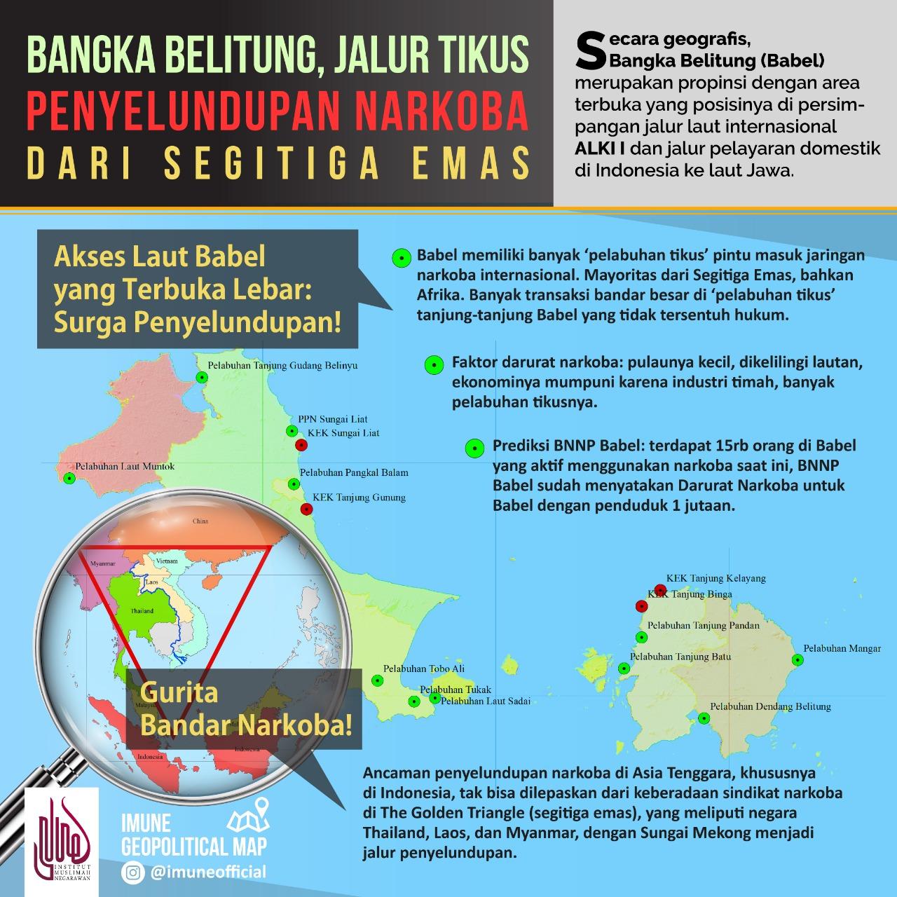 Bangka Belitung, Jalur Tikus Penyelundupan Narkoba dari Segitiga Emas