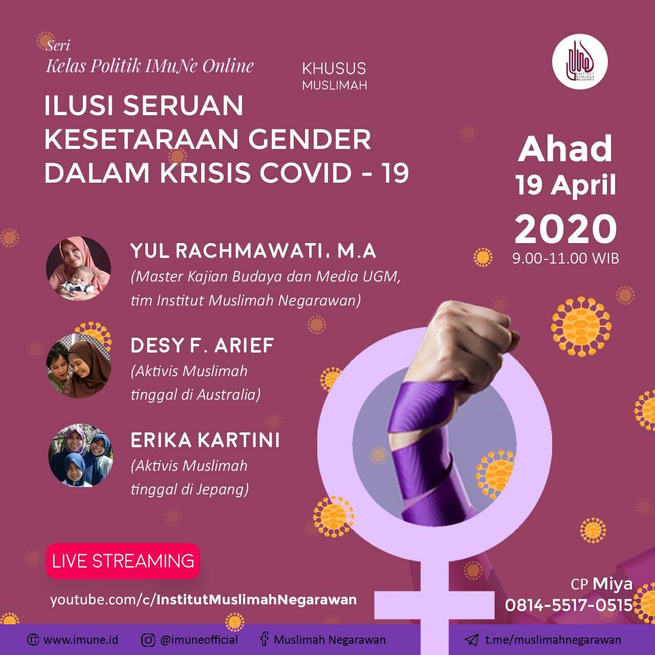 Seri Kelas Politik Muslimah (Online): Ilusi Seruan Kesetaraan Gender dalam Krisis Covid 19
