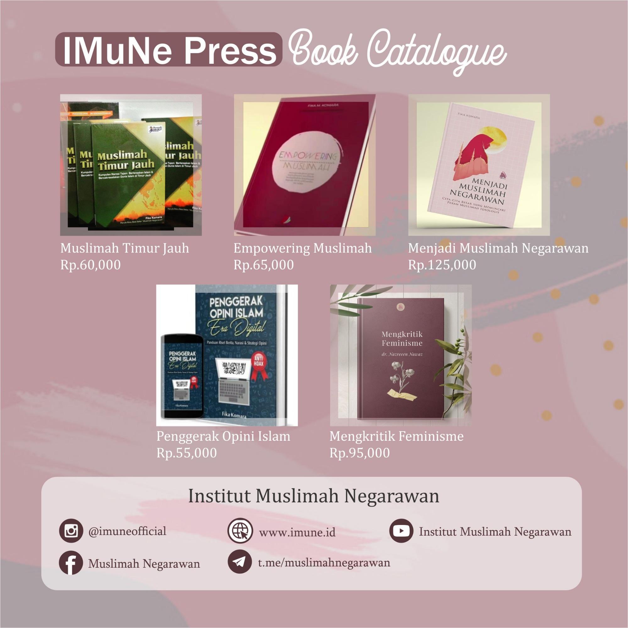 Katalog Buku IMuNe Press